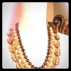 3 Strand Beaded Stella & Dot Necklace